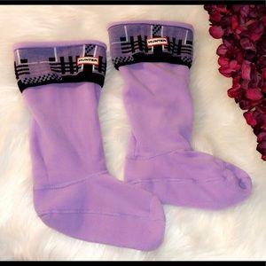 HUNTER Purple Fleece Boot Socks